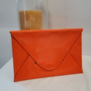 BCBGMaxazria Orange Envelope Clutch
